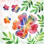 """Floral Watercolor Silhouette"" by IrinaSztukowski"