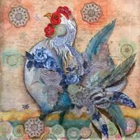Rooster Crows Art Prints & Posters by Alma Lee