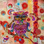 """""""Textured Owl"""" by AlmaLee"""