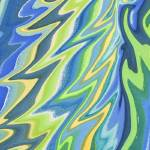 """Magic Abstract Wing In Blue And Green"" by IrinaSztukowski"