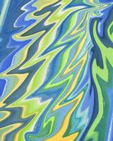 Magic Abstract Wing In Blue And Green