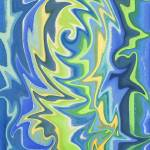 """Whimsical Curves In Blue And Green"" by IrinaSztukowski"