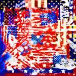"""FlagGrafitAmerican"" by RubinoFineArt"