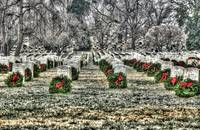 Rows with Wreaths and Ice