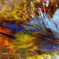 Flowing River Abstract 1 Art Prints & Posters by Alexandra Zloto
