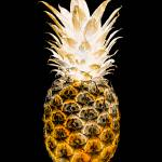 """14O Artistic Glowing Pineapple Digital Art Orange"" by Ricardos"
