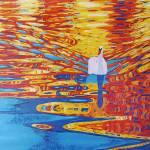 """""""Swan at Sunset"""" by AlinaDeutsch"""