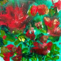 Poinsetta Art Prints & Posters by Noreen Coup