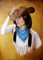 Cowgirl in Blue