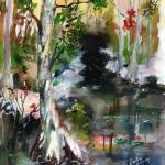 """Suwannee River Impression Watercolor"" by GinetteCallaway"