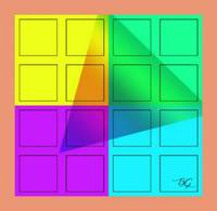 abstract triangle/squares