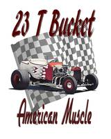 23 T Bucket - Checkered - American Muscle