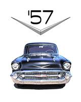57 Chevy with Chromework Logo