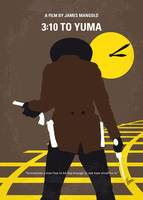 No726 My 310 to Yuma minimal movie poster