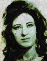 Abstract Protrait of Kurdish Singer Ayse San