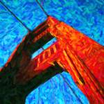 """Abstract Golden Gate Bridge"" by motionage"