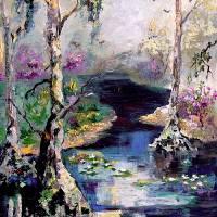 Suwannee River Wetland Landscape Portrait Art Prints & Posters by Ginette Callaway