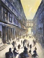 Bologna Watercolor Painting.