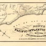 """map_San Jose to San Francisco_p"" by worldwidearchive"