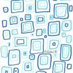 """Blue Squares pattern"" by RDRiccoboni"