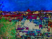Rome Italy skyline in abstract