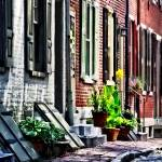 """Sig_PhiladelphiaPAStreetWithFlowerPots"" by susansartgallery"