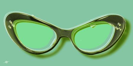 glasses retro.green50X25