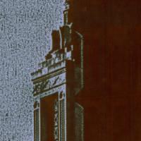 ornate cap of superman building, providence ri Art Prints & Posters by john nanian