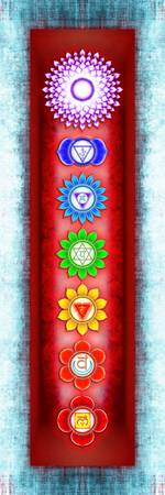 The Seven Chakras - Series 6 Artwork 3 Ice Blue
