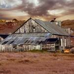 """Weathered Barn with Storm Clouds"" by almarphotography"