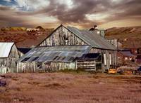 Weathered Barn with Storm Clouds
