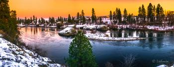 Spokane River at Dawn