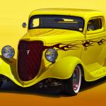 """1934 Ford Three-Window Coupe II_HDR"" by FatKatPhotography"