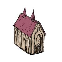 Medieval Church Drawing