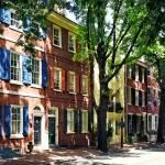 """Philadelphia PA - Society Hill Street"" by susansartgallery"