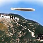 """Hollywoodlandblimp"" by RubinoFineArt"