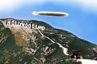 Hollywood Sign And Blimp