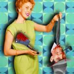 """""""Housewifehead,_1950s"""" by RubinoFineArt"""