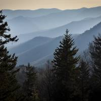 Smoky Morning in the North Carolina Mountains Art Prints & Posters by Ken Thomas