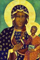 Our Lady of Czestochowa Black Madonna Icon Poland