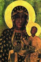Virgin Mary and Child Icon Black Madonna Poland