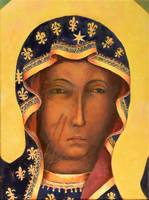 Polish Black Madonna Our Lady of Czestochowa Face