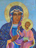 Virgin Mary and Child Black Madonna Our Lady Icon