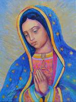 Our Lady of Guadalupe Painting Virgin Mary Art