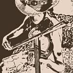 """""""Cowgirl Fiddle"""" by davegafford"""