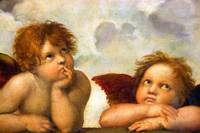 Angels Cherubs Rafael Santi Angel Painting