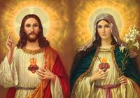 Sacred Heart of Jesus Christ and Virgin Mary Art