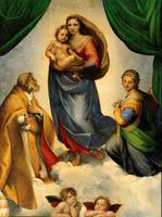Sistine Madonna Virgin Mary and Child Jesus Art