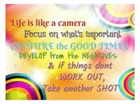 Colourfull life quote