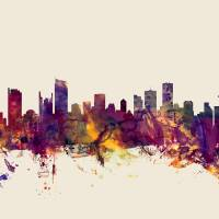 Vancouver Canada Skyline Art Prints & Posters by Michael Tompsett